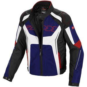 Spidi Tronik Tex Motorsykkel tekstil jakke 4XL Svart Hvit Rød Blå