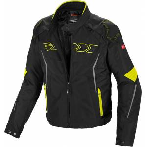 Spidi Tronik Tex Motorsykkel tekstil jakke M Svart Gul