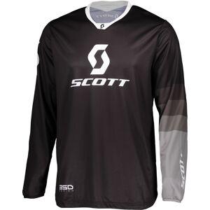 Scott 350 Track Regular Motocross Jersey L Svart Grå