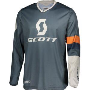 Scott 350 Track Regular Motocross Jersey L Blå Oransje