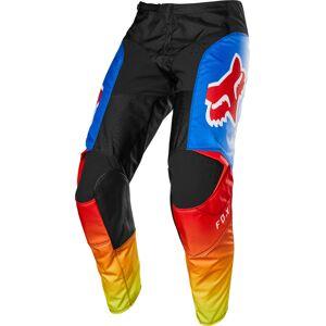FOX 180 Fyce Motocross bukser 34 Svart Rød Blå