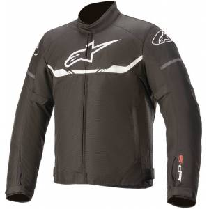 Alpinestars T-SPS WP Motorsykkel tekstil jakke 2XL Svart Hvit