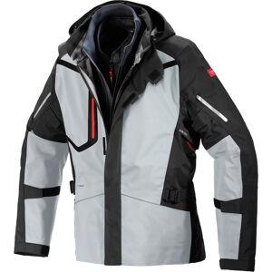 Spidi H2Out Step-InArmor Mission-T Motorsykkel tekstil jakke XL Svart Grå