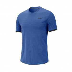 Nike Court Dry Colorblock Tee Game Royal S