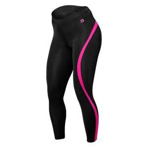 Better Bodies Curve Tights, black/pink, xsmall Treningstights dame