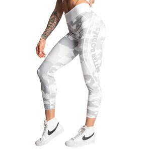 Better Bodies Camo High Tights, white camo, medium Treningstights dame