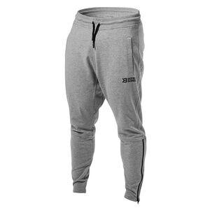 Better Bodies Harlem Zip Pants, grey melange, small Treningsbukser herre