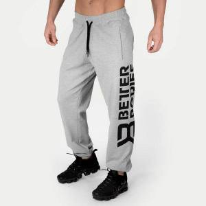 Better Bodies Stanton Sweatpants - Light Grey Melange