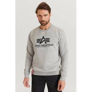 Alpha Industries Sweatshirt Basic Sweater Grå