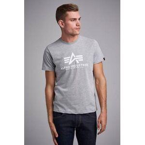 Alpha Industries T-Shirt Basic Tee 93 Grå