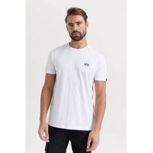 Alpha Industries T-Shirt Basic T-Shirt Small Logo Vit
