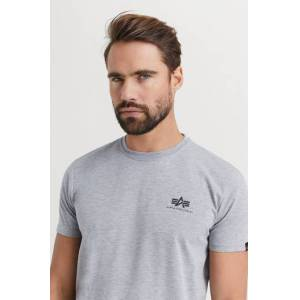 Alpha Industries T-SHIRT Basic T-shirt Small Logo Grå