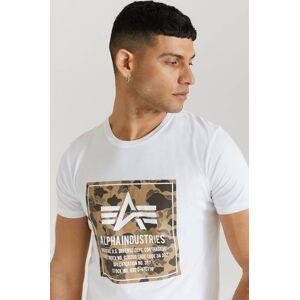 Alpha Industries T-Shirt Camo Block T Vit  Male Vit