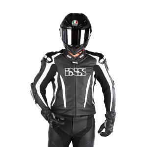 IXS RS-1000 Short Skinnjacka Svart-Vit
