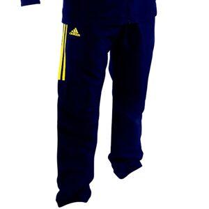 Adidas Overallsbyxa Mörkblå med Gula ränder