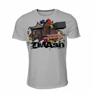 Black Madness ZMAsh T-Shirt Herr Ljusgrå