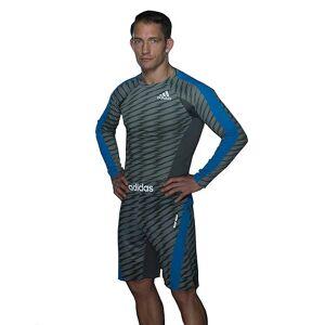 Adidas 'Slutlig' dragsko MMA träning Shorts - granit/Beluga/Solar Blue