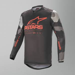 Alpinestars Racer Tactical Crosströja Grå-Camo-Röd