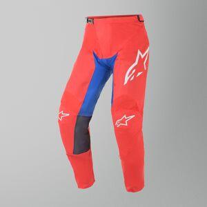 Alpinestars Racer Supermatic Crossbyxor Röd-Blå-Vit