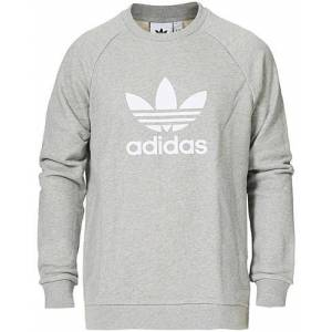 adidas Originals Trefoil Crew Neck Sweatshirt Grey Melange