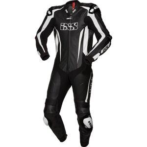 IXS X-Sport RS-1000 Ett stycke Motorcycel läder kostym XL 2XL 50 52 Svart Vit