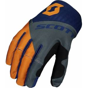 Scott 450 Angled Regular Motocross handskar L Blå Orange