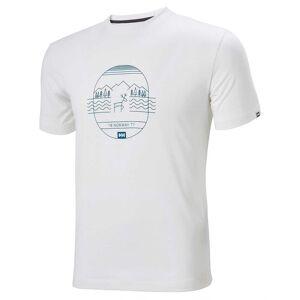 Helly Hansen Skog Graphic Tshirt L White