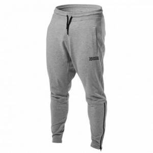 Better Bodies Harlem Zip Pants Greymelange