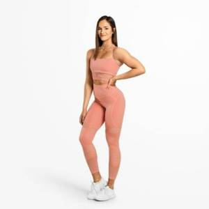 Better Bodies Waverly Mesh Tights Rose Dawn