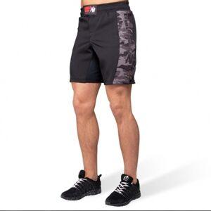 Gorilla Wear Kensington MMA Fightshorts, Black & Grey Camo
