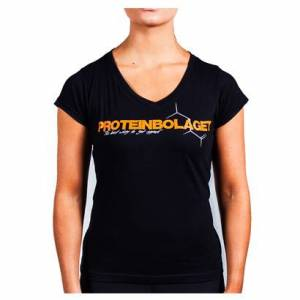 Proteinbolaget Logo Girl T-shirt, Black