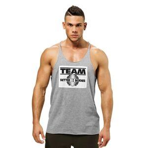 Better Bodies Team BB Raw Cut Tank Greymelange