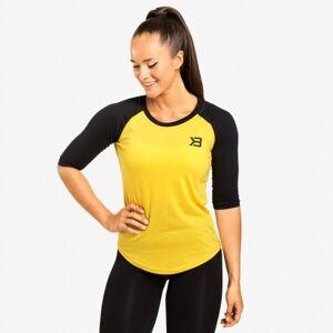 Better Bodies Womens Baseball Tee, Yellow