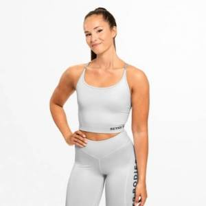 Better Bodies Vesey Strap Top, Frost Grey
