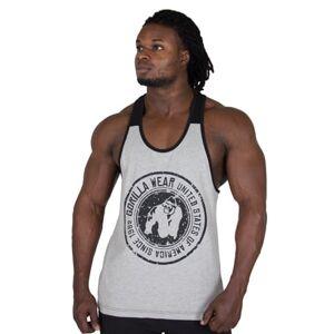 Gorilla Wear Roswell Tank Top, Grey/Black