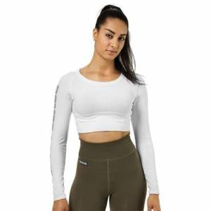 Better Bodies Bowery Cropped LS White