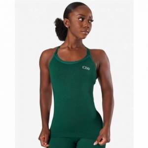 ICANIWILL Dynamic Seamless Tank Top, Forest Green