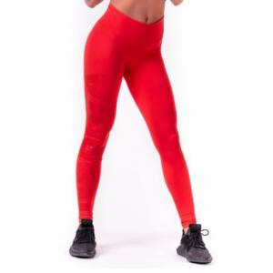 NEBBIA One Tone Pattern Tights, Red