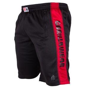 Gorilla Wear Track Shorts, Black/Red