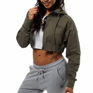 Better Bodies Astoria Cropped Hood Wash Green