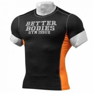 Better Bodies Tight Fit Tee Black/Orange