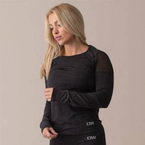 ICANIWILL Queen Mesh Seamless Long Sleeve, Graphite