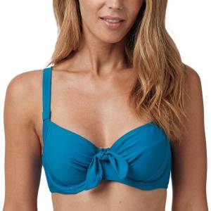 Abecita Twisted Solid Unique Wire Bikini Bra - Ocean  - Size: 472060 - Color: Valtameren sininen