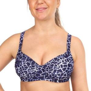Damella Sophia Navy Crackle Underwire Bikini Bra - Navy pattern  - Size: 33549 - Color: Merensininen kuviollinen
