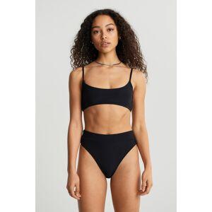 Gina Tricot Rosie rib bikini top XL Female Black (9000)