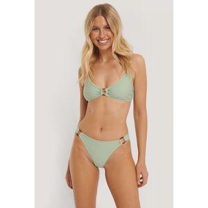 NA-KD Swimwear Bikiniunderdel Med Høyt Liv Og Ringdetalj - Green