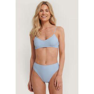 NA-KD Swimwear Maxitruse Med Høyt Liv - Blue