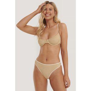 NA-KD Swimwear Bikinitruse Med Høy Skjæring - Gold