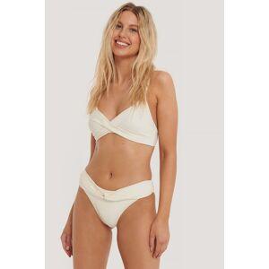 NA-KD Swimwear Vridd Bikinitruse Med Høy Skjæring - Offwhite