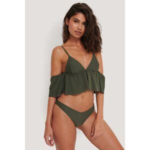 NA-KD Swimwear V-Formet Bikinitruse - Green